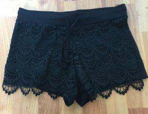 Primark atmosphere schwarze kurze Hose Hotpants shorts S 36 Neu mit Etikett spitze