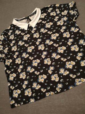 Primark Atmosphere T-Shirt – Schwarz mit Gänseblümchen