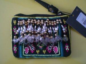 Primark Atmosphere Täschchen Perlen bestickt Indien boho Hippie NEU!
