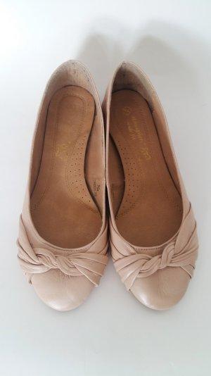 Primark Ballerinas Twist auf Schuhspitze nude rosa puderfarben Gr. 38