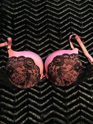 Primark BH pink schwarz 75D Maximiser wie Neu