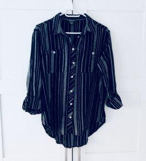 Primark Bluse Hemd Gestreift Streifen Größe 38 blau weiß