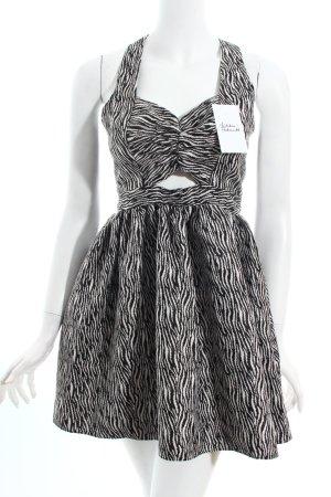 Primark Cocktailkleid schwarz-weiß Streifenmuster Party-Look