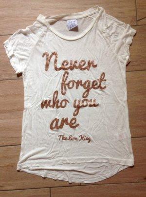 Primark Disney König der Löwen T-Shirt Größe 34 wollweiß bronze never forget who you are
