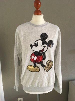 Primark Disney Mickey Mouse Sweatshirt grau 12 40