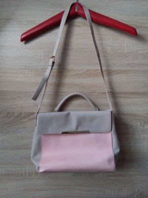 Primark Handtasche grau7rosa