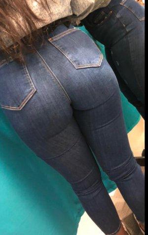 Primark Hoge taille jeans donkerblauw
