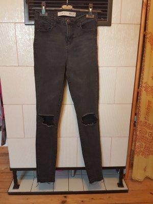 Primark Jeans cigarette noir-gris foncé