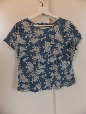 Primark Jeans-Optik T-Shirt mit Blumenprint