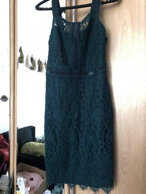 Primark Vestido de encaje verde bosque