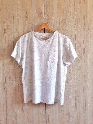 Primark Marmor Shirt weiß grau Gr. M