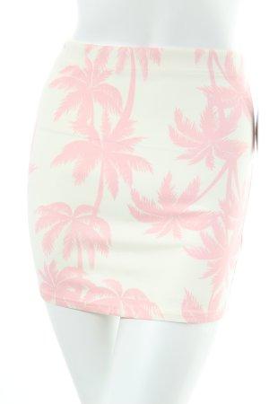 Primark Minirock creme-rosa florales Muster Beach-Look