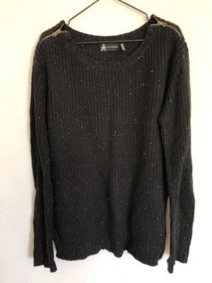 Primark Pullover schwarz mit Reißverschlüsse 36 S