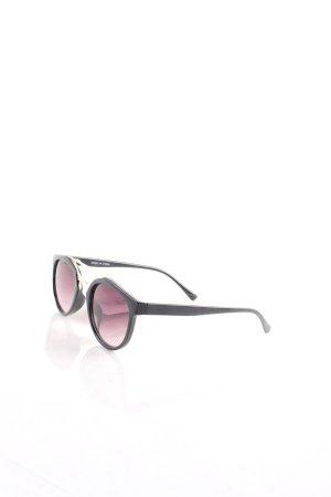 Primark runde Sonnenbrille schwarz-goldfarben Urban-Look