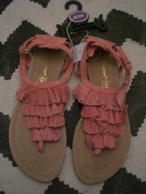 Primark Teenslippers roze-camel Leer