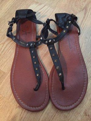 Primark Sandalen Sandaletten Nieten schwarz 39