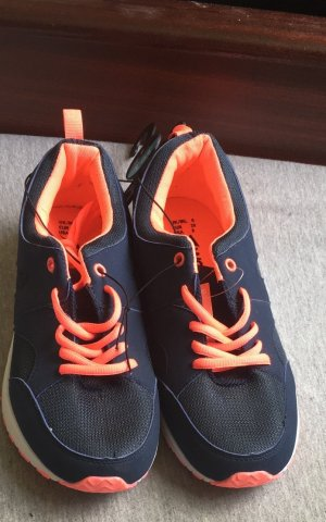 Primark Schuhe sneakers 39 Neu Sportschuhe dunkelblau neon orange workout atmosphere