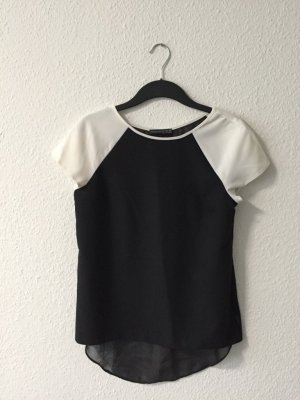 Primark schwarz weißes Tshirt hinten transparent 38