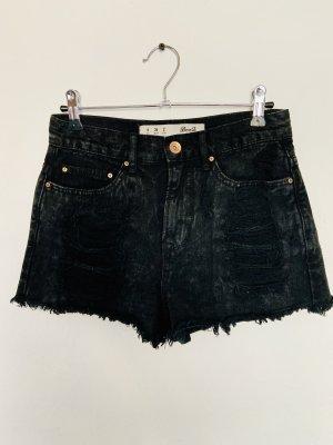 Primark Pantalón corto de tela vaquera negro