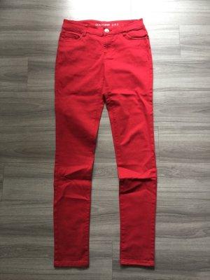 Primark Stretch Skinny Jeans Jeggins 34 rot