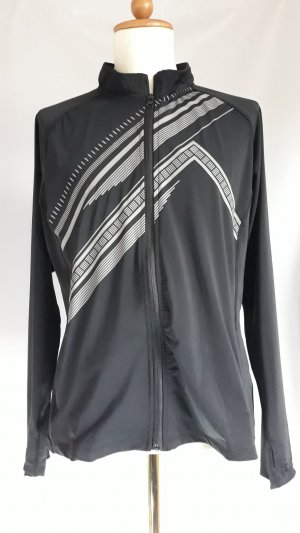 Workout Chaqueta deportiva negro-color plata