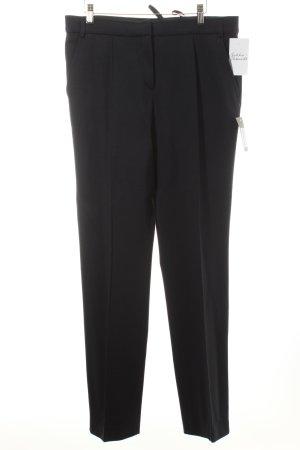 PriMeur Pantalon à pinces noir style classique