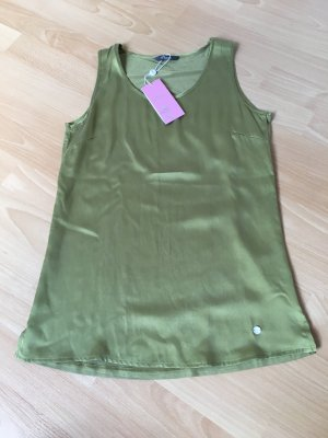 Princess goes Hollywood 34 XS Seide Khaki grün Bluse Top Shirt neu Etikett