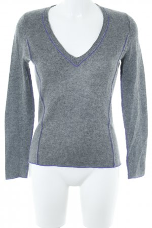 Princess goes Hollywood Sudadera de cachemir gris-lila look casual