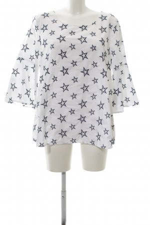 Princess goes Hollywood Hemd-Bluse weiß-blau Allover-Druck Casual-Look