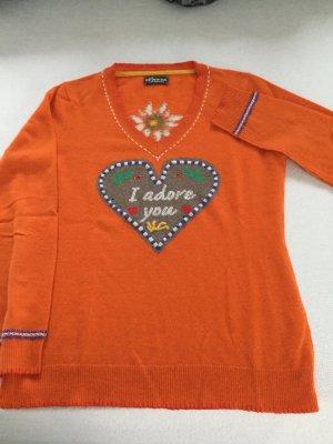 Princess goes Hollywood Kaschmirpullover Pulli orange wie neu 100 % Kaschmir Gr. 42