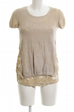Princess goes Hollywood Short Sleeve Sweater sand brown washed look