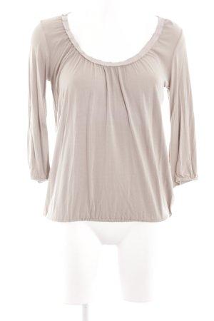 Princess goes Hollywood Langarm-Bluse beige schlichter Stil