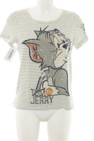 Princess goes Hollywood Print-Shirt wollweiß-hellgrau Motivdruck Casual-Look