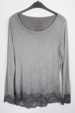 Princess goes Hollywood Shirt Seidenshirt Gr. 36 grau/silber mit grauer Spitze (18/5/146)