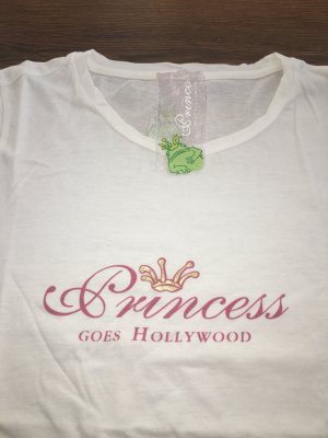 Princess goes Hollywood Shirt Tshirt weiß Krone Logoprint kurzärmlig S XS 34 36