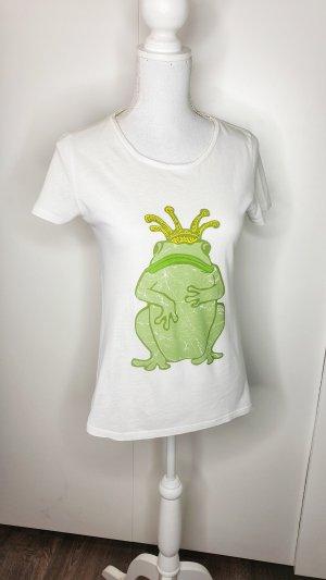 Princess goes Hollywood T-Shirt 36 weiß Froschkönig Strass Statement