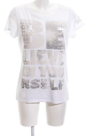 Princess goes Hollywood T-Shirt weiß-creme Schriftzug gedruckt Casual-Look