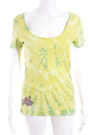 Princess goes Hollywood T-Shirt gelb-grün Batikmuster Casual-Look