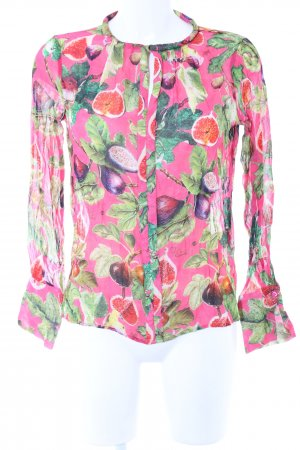 Princess goes Hollywood Transparenz-Bluse Blumenmuster Casual-Look