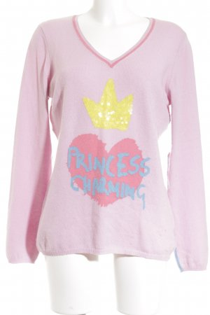 Princess goes Hollywood V-Ausschnitt-Pullover mehrfarbig Urban-Look