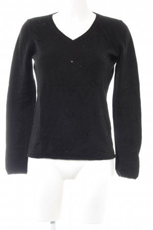 Princess goes Hollywood V-Ausschnitt-Pullover schwarz Casual-Look