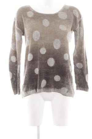 Princess goes Hollywood Jersey de lana marrón-blanco puro degradado de color