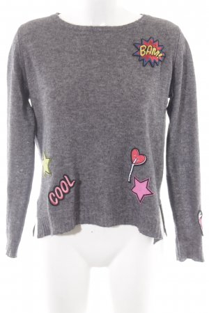 Princess goes Hollywood Wollpullover grau Comicmuster Casual-Look