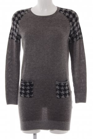 Princess Sweater Dress grey-black abstract pattern casual look