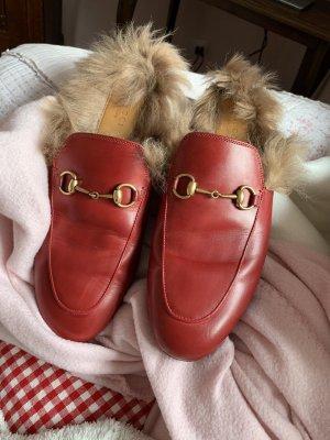 Gucci Zuecos rojo