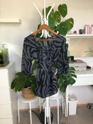 Principles Camicia a tunica nero-argento