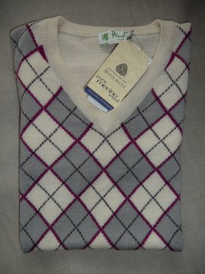 Pringle Golf Pullover Gr.38 Beige Merino Wool