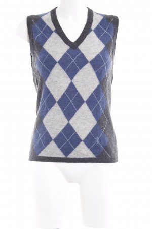 Pringle of Scotland Fijn gebreide cardigan geruite print elegant