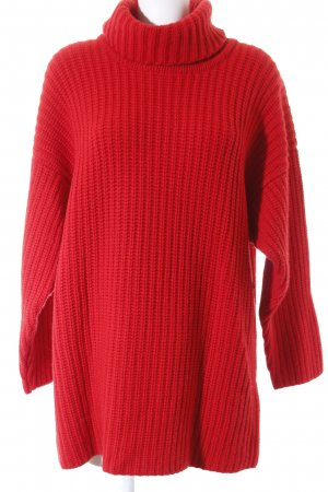 Pringle of Scotland Longpullover rot Kuschel-Optik