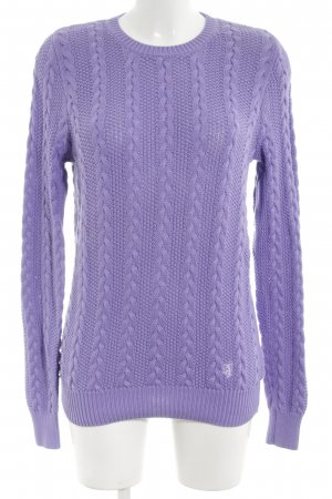 Pringle of Scotland Cable Sweater lilac cable stitch casual look